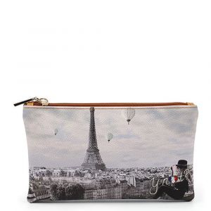 Bustina Pochette Y NOT Trousse con Zip YES-341 Ciel De Paris