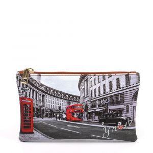 Bustina Pochette Y NOT Trousse con Zip YES-341 London Regent Street