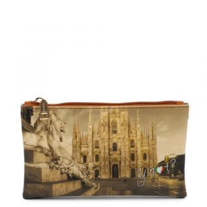 Bustina Pochette Y NOT Trousse con Zip YES-341 Milano Lion