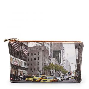 Bustina Pochette Y NOT Trousse con Zip YES-341 New York Streets