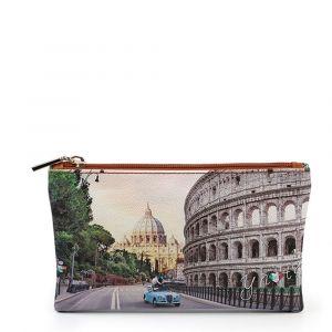 Bustina Pochette Y NOT Trousse con Zip YES-341 Roma Aurelia