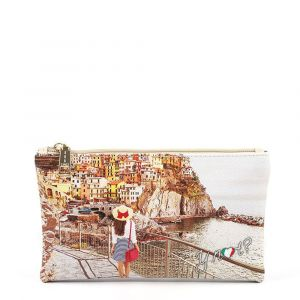 Bustina Pochette Y NOT Trousse con Zip YES-341 Tramonto Sul Mare