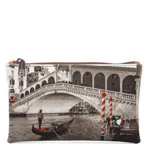 Bustina Pochette Y NOT Trousse con Zip YES-341 Venice Bridge
