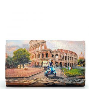 Portafoglio Donna con Bottone Y NOT YES-347 Rome Vita