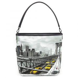 Borsa Donna Y NOT a Spalla con Tracolla YES-349 New York Brooklyn Bridge