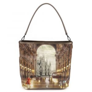 Borsa Donna Y NOT a Spalla con Tracolla YES-349 Milano Gallery