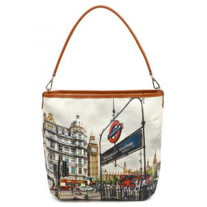 Borsa Donna Y NOT a Spalla con Tracolla YES-349 London Westminster Tube