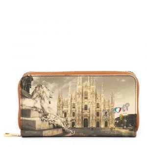 Portafoglio Donna Y NOT YES-361 Milano Lion- Chiusura Zip Around