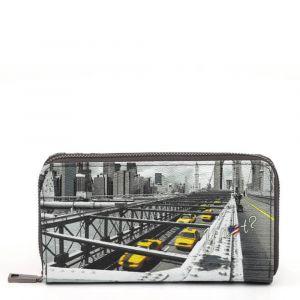 Portafoglio Donna Y NOT YES-361 New York Brooklyn Bridge - Chiusura Zip Around