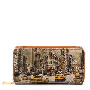 Portafoglio Donna Y NOT YES-361 New York Fifth Avenue- Chiusura Zip Around