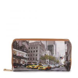 Portafoglio Donna Y NOT YES-361 New York Streets - Chiusura Zip Around