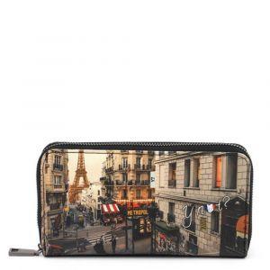 Portafoglio Donna Y NOT YES-361 Paris Boheme - Chiusura Zip Around
