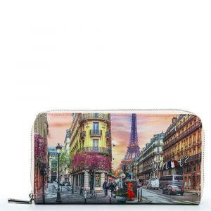 Portafoglio Donna Y NOT YES-361 Paris Spring- Chiusura Zip Around
