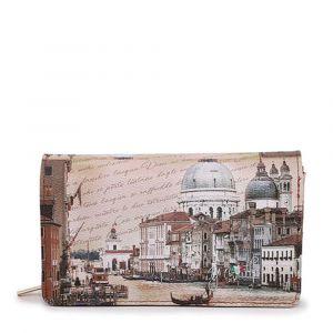 Portafoglio Donna con Bottone Y NOT YES-364 Venezia Canal Grande