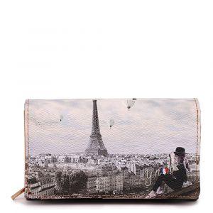 Portafoglio Donna con Bottone Y NOT YES-364 Ciel De Paris