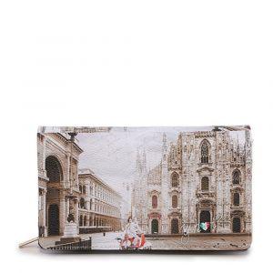 Portafoglio Donna con Bottone Y NOT YES-364 Milano Classic
