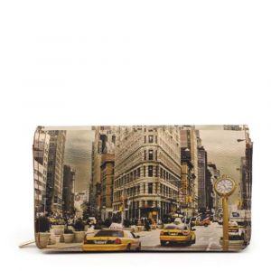Portafoglio Donna con Bottone Y NOT YES-364 New York Fifth Avenue