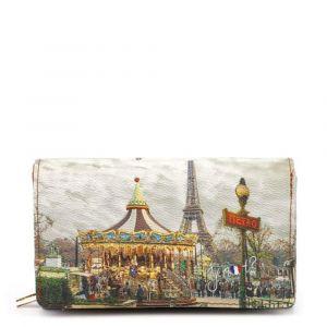 Portafoglio Donna con Bottone Y NOT YES-364 Paris Carosel