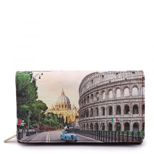 Portafoglio Donna con Bottone Y NOT YES-364 Roma Aurelia