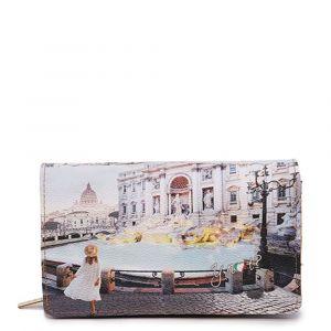 Portafoglio Donna con Bottone Y NOT YES-364 Roma Trevi