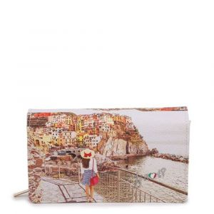 Portafoglio Donna con Bottone Y NOT YES-364 Tramonto Sul Mare