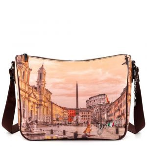 Borsa Donna Y NOT a Tracolla Regolabile linea YES-370 Morning in Rome