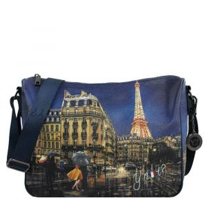 Borsa Donna Y NOT a Tracolla Regolabile linea YES-370 Midnight in Paris