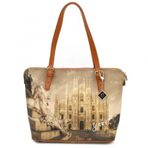 Borsa Donna Grande a Spalla Y NOT YES-377 Milano Lion