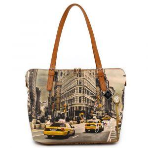 Borsa Donna Grande a Spalla Y NOT YES-377 New York Fifth Avenue