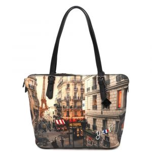 Borsa Donna Grande a Spalla Y NOT YES-377 Paris Boheme