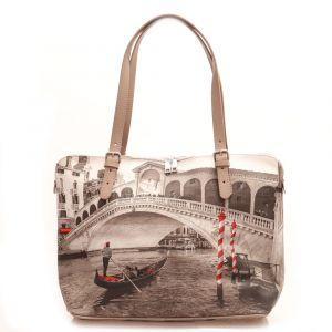 Borsa Donna Grande a Spalla Y NOT YES-377 Venice Bridge