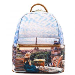 Zaino Donna Piccolo Y NOT con Tasca Esterna YES-380 Paris View