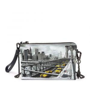 Borsa Donna Y NOT Pochette con Tracolla YES-384 New York Brooklyn Bridge