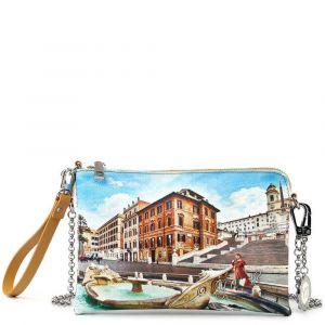 Borsa Donna Y NOT Pochette con Tracolla YES-384 Rome Fountain