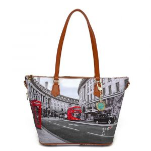 Borsa Donna Y NOT Shopping Media a Spalla con Tracolla YES-396 London Regent Street
