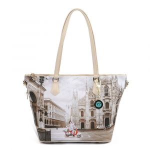 Borsa Donna Y NOT Shopping Media a Spalla con Tracolla YES-396 Milano Classic