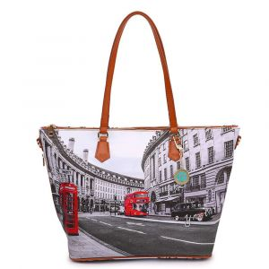 Borsa Donna Y NOT Shopping a Spalla con Tracolla YES-397 London Regent Street