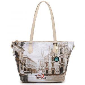 Borsa Donna Y NOT Shopping a Spalla con Tracolla YES-397 Milano Classic