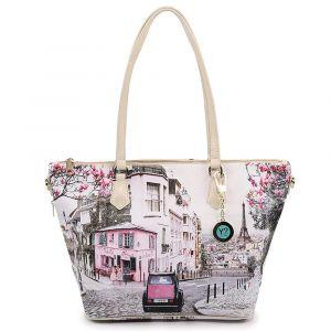 Borsa Donna Y NOT Shopping a Spalla con Tracolla YES-397 Paris Charleston