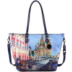 Borsa Donna Y NOT Shopping a Spalla con Tracolla YES-397 Saint Petersburg
