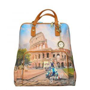 Zaino Donna Due Manici Y NOT con Tasca Esterna YES-401 Rome Vita