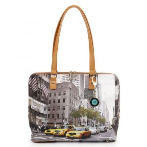 Borsa Donna Grande a Spalla Y NOT YES-478 New York Streets