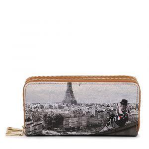 Portafoglio Donna con Doppia Zip Y NOT YES-568 Ciel De Paris