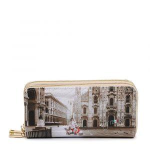 Portafoglio Donna con Doppia Zip Y NOT YES-568 Milano Classic