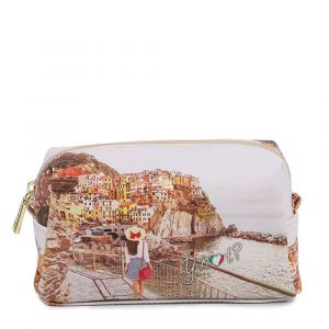Beauty Medio con Zip Y NOT YES-302 stampa Tramonto sul Mare