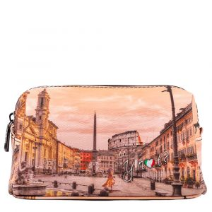 Beauty Medio con Zip Y NOT stampa Morning in Rome YES-302