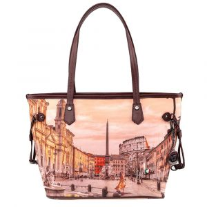 Borsa Donna Y NOT Shopping Media a Spalla YES-336 Morning in Rome