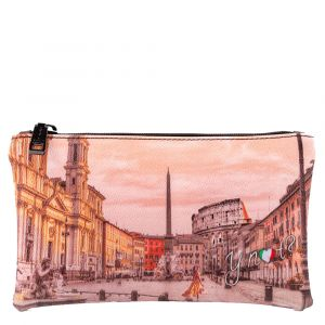 Bustina Pochette Y NOT Trousse con Zip YES-341 Morning in Rome