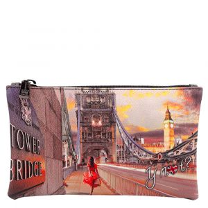 Bustina Pochette Y NOT Trousse con Zip YES-341 London Tower Bridge