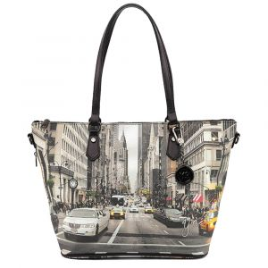 Borsa Donna Y NOT Shopping Media a Spalla con Tracolla YES-396 NY Street Style